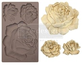 Re Design Mould Etruscan Rose  5 by 8