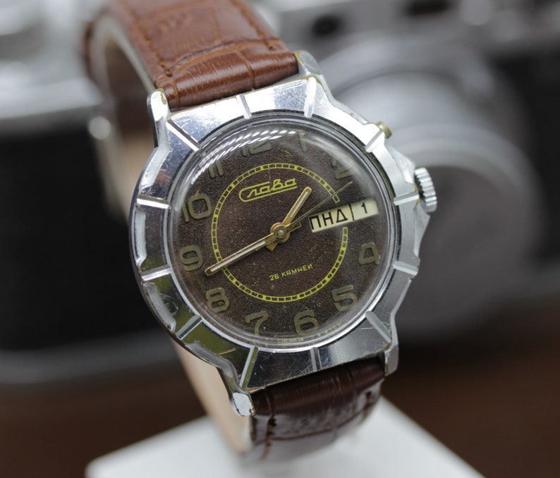 619e1e8f77d Slava Military watch 26j mechanical Self-winding Russian Retro