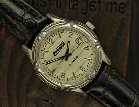 Vintage Watch REKORD Mechanical Russian Dress wris