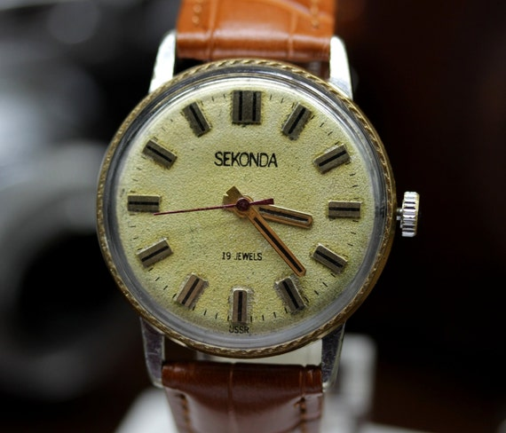87ccac27e7b Vintage USSR Dress Watch RAKETA Sekonda Mechanikal 2609.HA