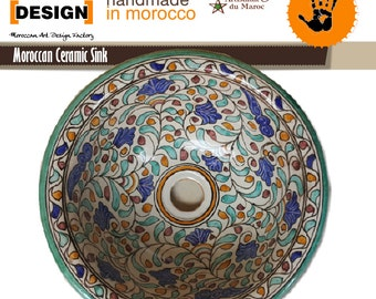 Moroccan Ceramics 100% handmade wash basin directly from the manufacturer