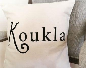 """Pillow Cover- """"Koukla"""""""