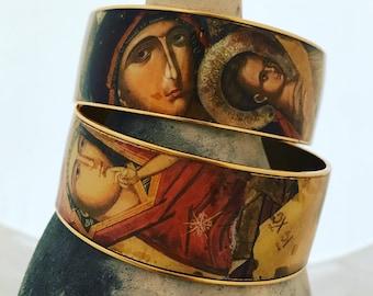 Greek Orthodox Saint bangle bracelet, Greek bracelet