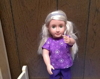 Shorts and shirt for 18 inch Doll