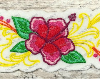 Aloha Patch Hibiscus Flowers Patches Vacation Inspired Patch Florida Vibe Patch
