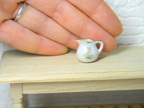 Dollhouse Miniature Handcrafted Jug Painted Branch Design Multi Minis.1:12 scale
