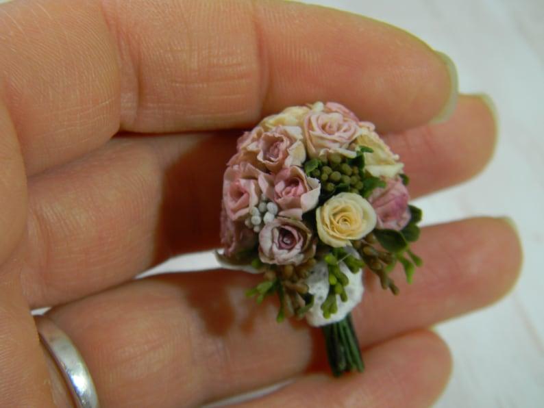 Miniature Wedding Bouquet Replica 12th Scale Bridal Bouquet Replica To Order