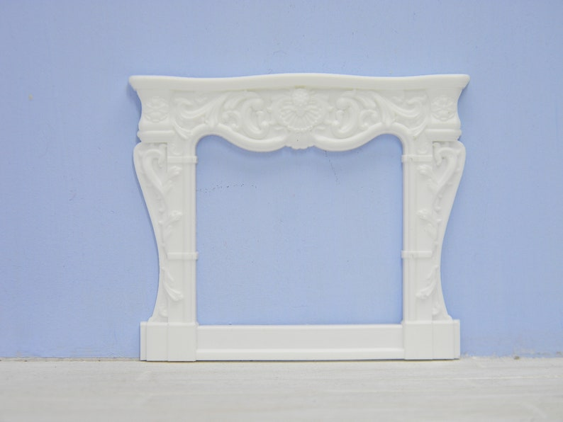 Stupendous Miniature False Fireplace White Ornate Fireplace Surround 24Th Scale Furniture Shabby French Shabby Chic Download Free Architecture Designs Lukepmadebymaigaardcom