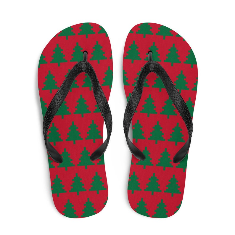 Christmas Rubber Sandal Christmas in July Christmas Tree Flip Flops
