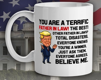 trump mug for father in law father conservative gift trump lovers gifts trump sayings inappropriate mug trump gag gift maga gifts