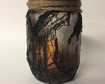 Halloween Lanterns/ Pathway Marker/ Candle Lantern/ Swamp Jar