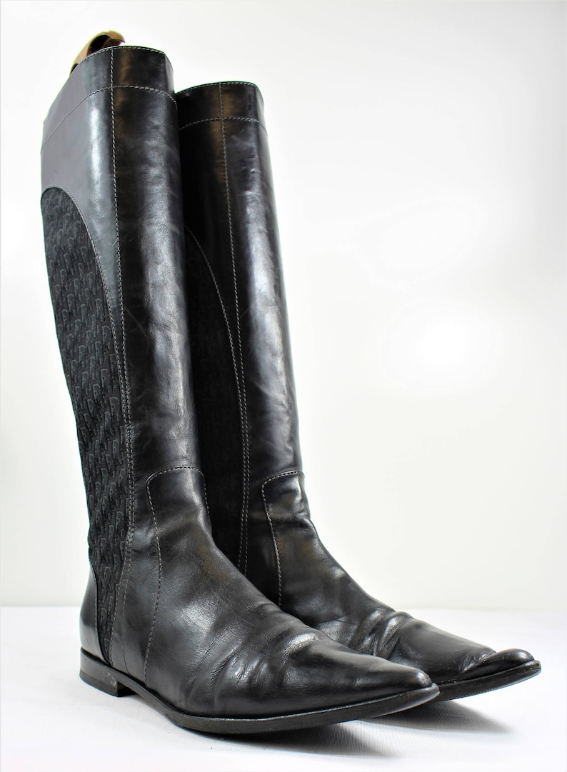Christian Dior Monogrammed Riding Boots