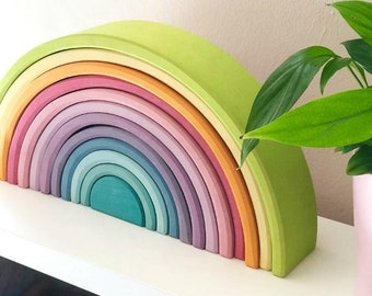 Professionally printed Pastel rainbow  Stacking rainbow Challenge cards
