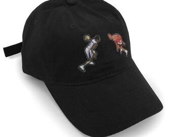 67fa37aadb5 Allen Iverson Crossover Michael Jordan Chicago Bulls Philadelphia 76ers  Snapback Dad Hat Cap Vintage NBA