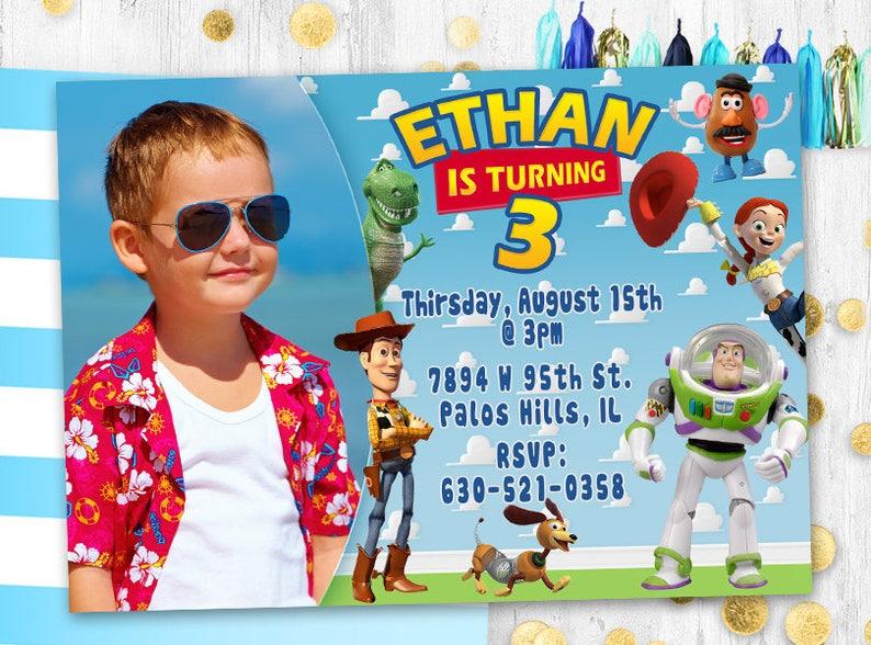 Toy Story Anniversaire Fête Carte Imprimable Numérique Carte Dinvitation
