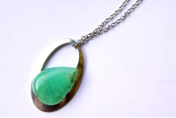 Natural Chrysoprase Jewelry, Chrysoprase Necklace, Chrysoprase gemstone, Gift for Her, birthstone