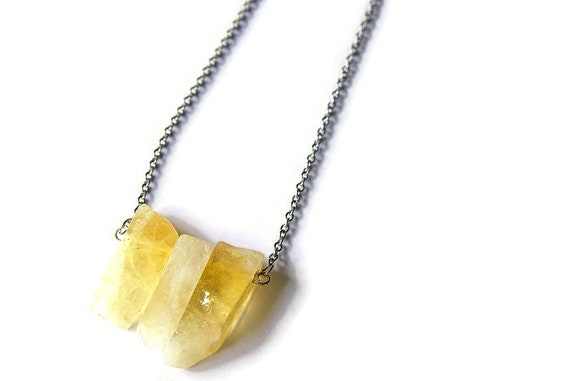 Citrine Necklace 925 Silver ∞ Abundance, Balance, Intuition, Thought, Sacred Chakra, November Birthstone ∞ Healing Beads Dainty Jewelry Gift