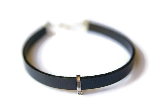 Ras de cou cuir noir collier cuir femme colliers hommes   Etsy 6d4c9b4d4bd
