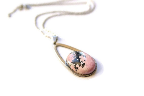 Rhodochrosite ∞ Positivity, Emotional Healing, Scorpio Birthstone, Solar Plexus Chakra ∞ Jewelry, Gemstone, Pendant Cabochon, Gift for Her