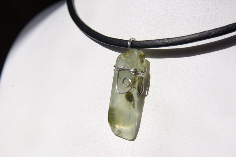 Prehnite 3 Mm Leather Cord Gemstone Jewelry Handmade Etsy