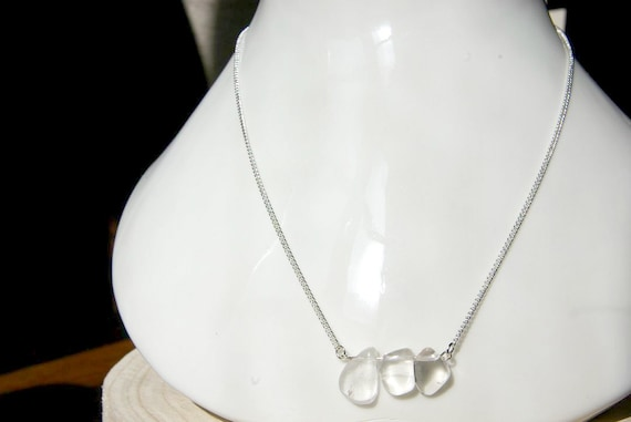 Crystal Quartz ∞ Healer Master, All purposes Crystal, Aligns Chakras ∞ Bar Necklace, 925 Silver, Crystal Gemstone, Jewelry, Gift for Her