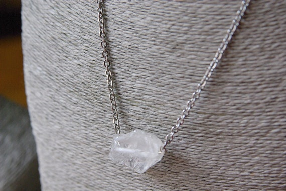Crystal Quartz ∞ Healer Master, All purposes Crystal, Aligns Chakras ∞ Raw Crystal, Necklace, Gemstone, Gift for Her, Jewelry, Gift for Him
