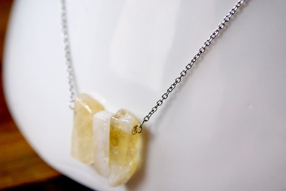 Citrine Bar necklace on 925 Sterling Silver, Citrine Gemstone, for Her, Gemstone bar, birthstone, Citrine jewelry, Minimalist, Zodiac