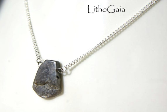 Labradorite Necklace Silver 925 ∞ Aura Cleansing, Protection, Good Luck Gift, Pisces Zodiac, Solar Plexus Chakra ∞ Spiritual Dainty Jewelry