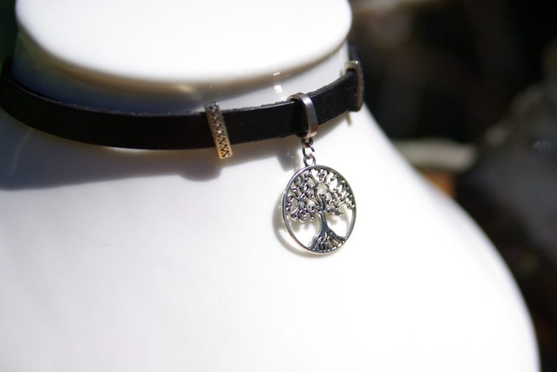 Sacred Geometry witchcraft supply unique gifts Tree of life Charm Personalized Gothic Choker Talisman Protection Pagan Occult Jewelry