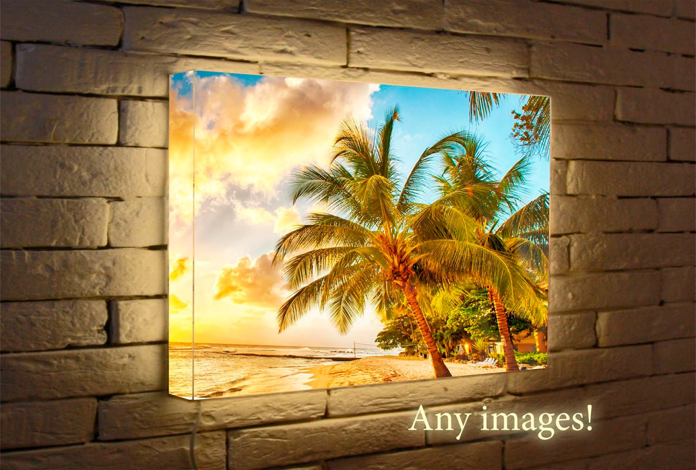 Light Box Led print Any images for home decor   Etsy