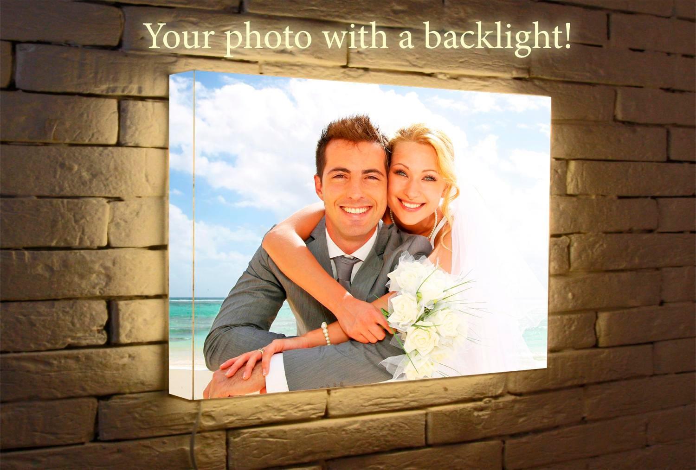 Licht-Box Wand Fotoleuchte personalisierte Wand Foto | Etsy