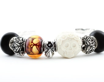 Bracelet, SPECIAL OFFER, Gemstone/Silver bracelet for women, Unique hand made jewelry, Beads fit Pandora and Trollbeads, Unique gift for her