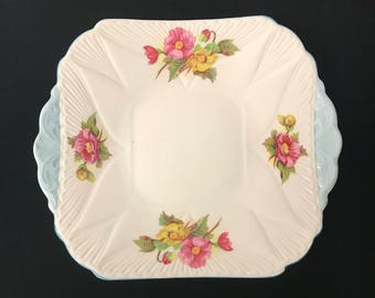 Vintage Shelly Square Dish