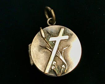 Silver Plated Religious Locket