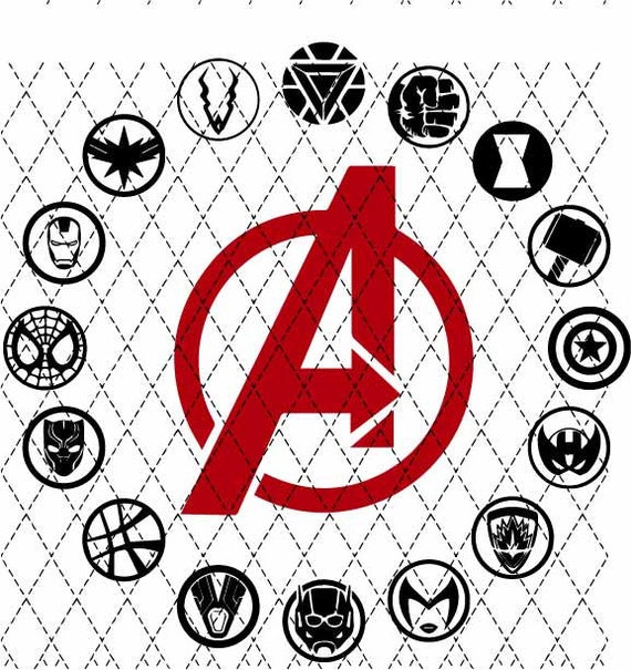 Avengers Circle SVG PNG Sublimation, Cameo, Cricut