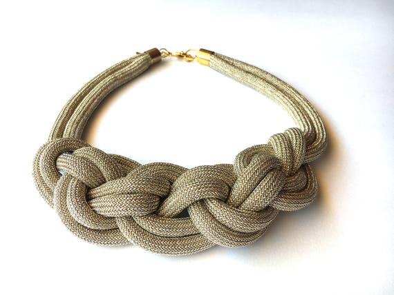 Knots bib necklace