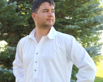 Men's Steampunk/Renaissance/Western White Shirt