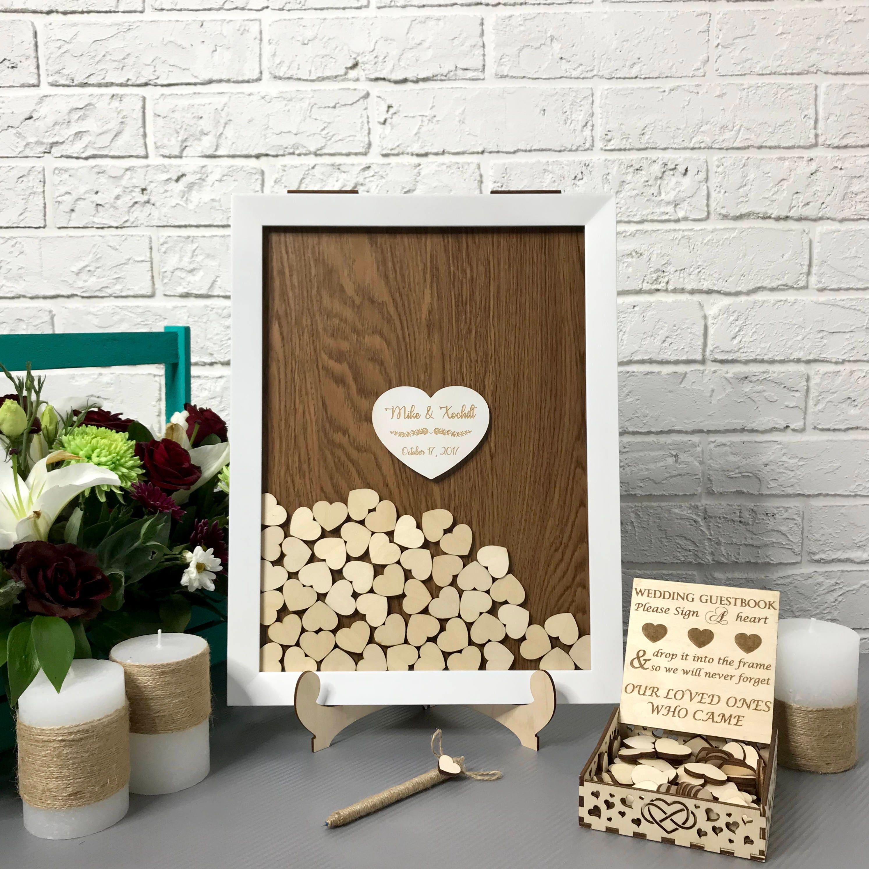Hochzeit Gästebuch Alternative Drop Box weißer Rahmen | Etsy