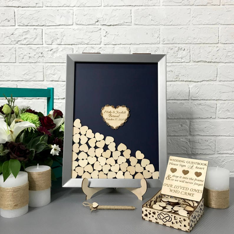 Wedding Guest Book Wooden Wedding Guest Book Wooden Guestbook image 0