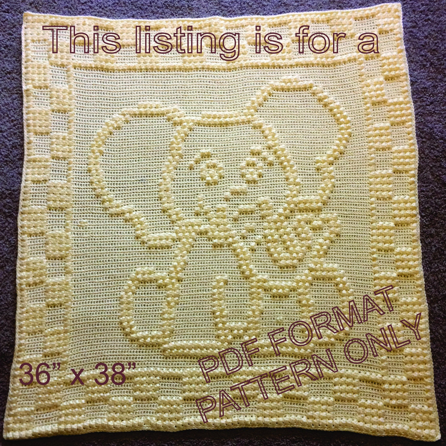 Elephant Baby Blanket Crochet Pattern Unique Decorating