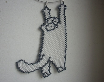 Hanging cat pendant