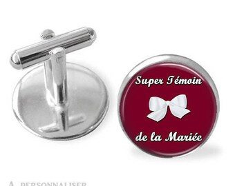 Super light of the bride from groom cufflinks