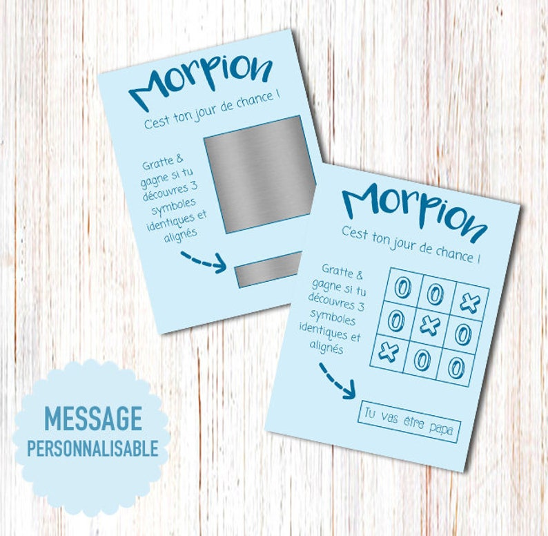 You/'re going to be a Grandpa!or custom message with your text Scratch card Morpion Announces pregnancy you/'re going to be a dad