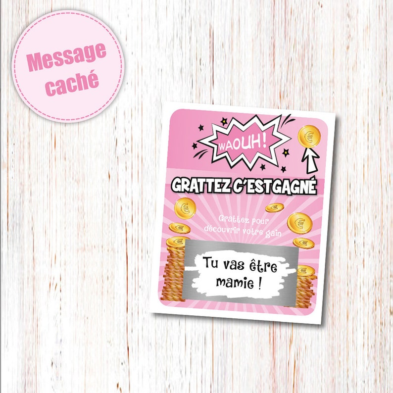 Ticket game waouh Scratch Card original ad scratch card you/'re going to be granny