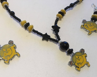 Little miss sunshine necklace and earring set