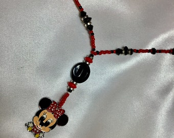 Minnie Mouse pendant necklace