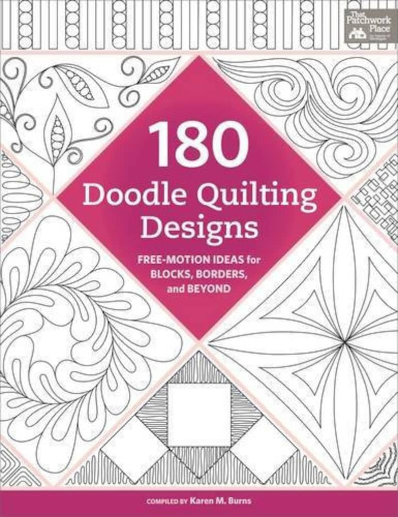 180 Doodle Quilting Designs: Free Motion Ideas for Blocks image 0