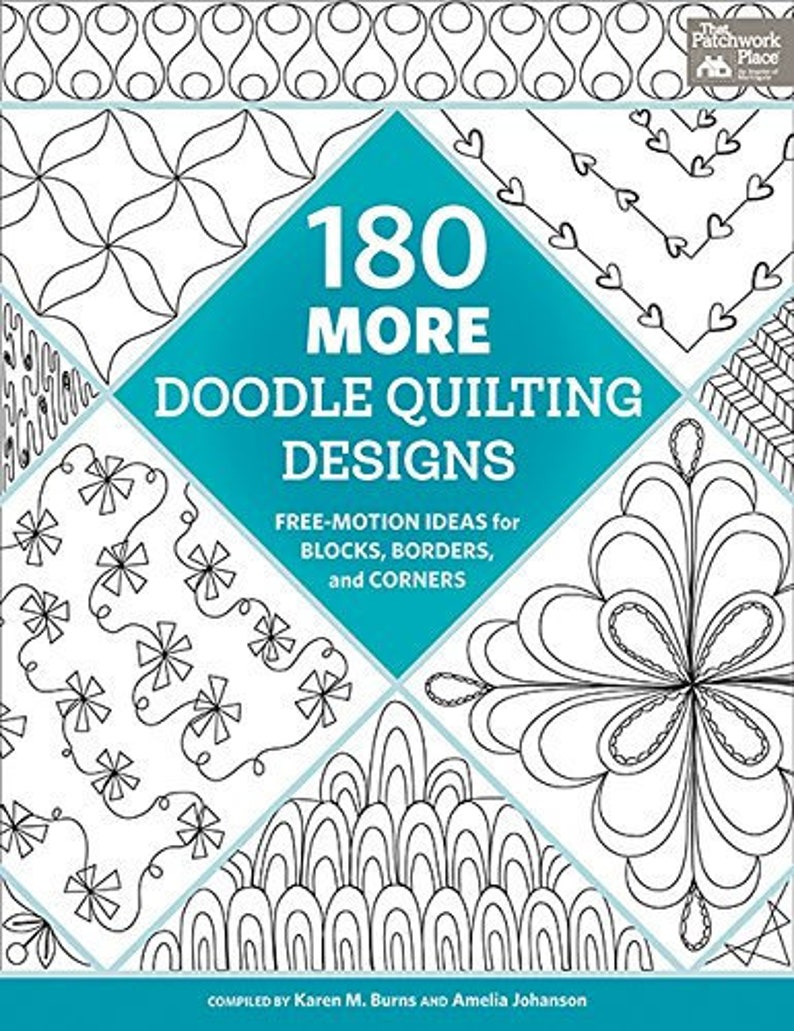 180 More Doodle Quilting Designs: Free Motion Ideas for image 0