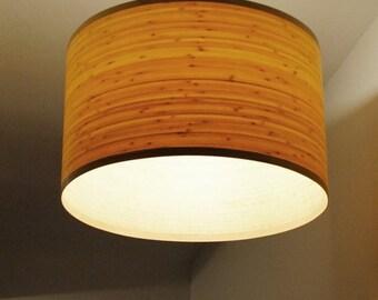 Bamboo pendant light etsy handmade wooden ceiling light bamboo pendant lighting wooden veneer lamp made of bamboo veneer and pinewood aloadofball Choice Image