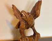 One of a Kind Hand Carved Falcon